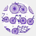 Bicicletas del vintage etiquetas redondas