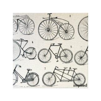 Bicicletas del vintage impresión en lienzo