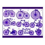 Bicicletas del vintage postal