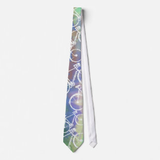 bicicletas en acuarela corbata personalizada
