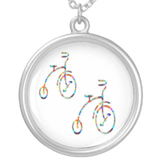 Bicicletas lindas - ejercicio de la diversión colgante redondo
