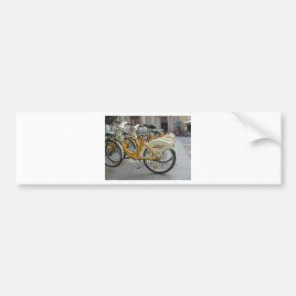 Bicicletas públicas etiqueta de parachoque