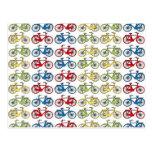 Bicicletas retras coloridas postal