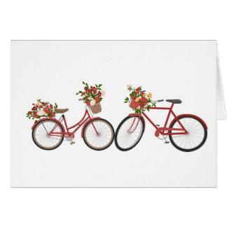 Bicicletas rojas, tarjeta linda del día de San