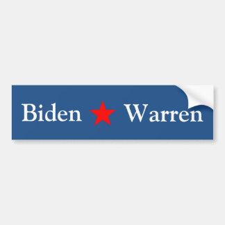 Biden/Warren 2016 Pegatina Para Coche