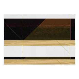 Biege abstracto invitación 12,7 x 17,8 cm