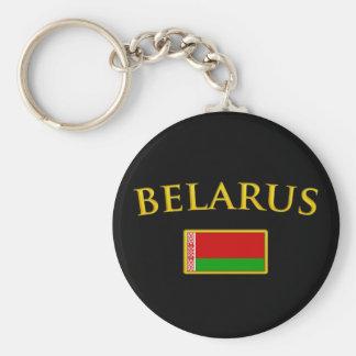 Bielorrusia de oro llavero redondo tipo chapa