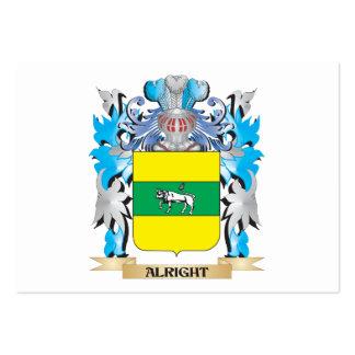 Bien escudo de armas tarjetas de visita