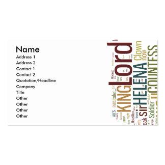 Bien está lo que bien acaba mosaico de la palabra plantilla de tarjeta personal