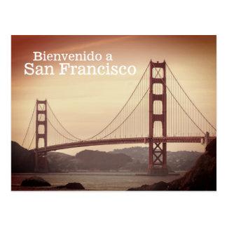 Bienvenido una postal de San Francisco
