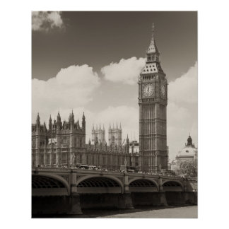 Big Ben Clocktower Póster