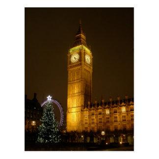 Big Ben hace tictac buenas noches Postal