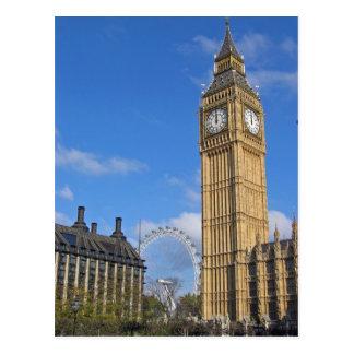 Big Ben y la postal del ojo de Londres