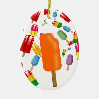Big Popsicle Chaos by Ana Lopez Adorno Ovalado De Cerámica