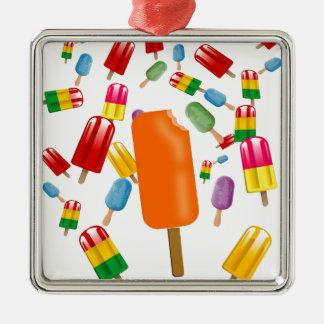 Big Popsicle Chaos by Ana Lopez Adorno Cuadrado Plateado