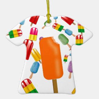 Big Popsicle Chaos by Ana Lopez Adorno De Cerámica En Forma De Camiseta