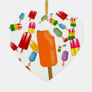 Big Popsicle Chaos by Ana Lopez Adorno De Cerámica En Forma De Corazón