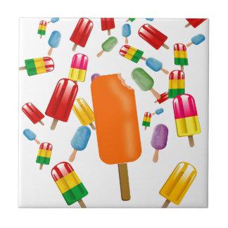 Big Popsicle Chaos by Ana Lopez Azulejo Cuadrado Pequeño