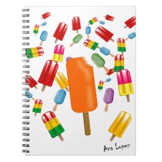Big Popsicle Chaos by Ana Lopez Libreta Espiral