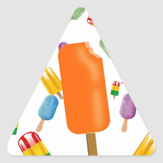 Big Popsicle Chaos by Ana Lopez Pegatina Triangular