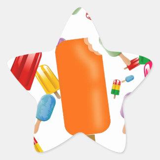 Big Popsicle Chaos by Ana Lopez Pegatina En Forma De Estrella