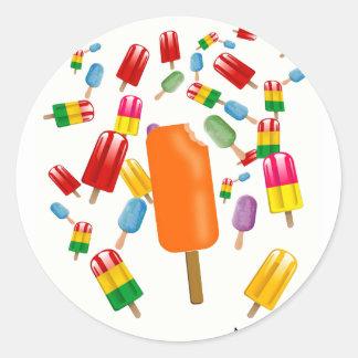 Big Popsicle Chaos by Ana Lopez Pegatina Redonda