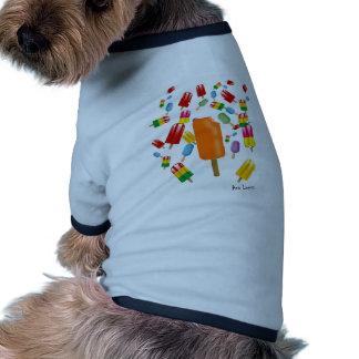 Big Popsicle Chaos by Ana Lopez Camiseta Con Mangas Para Perro