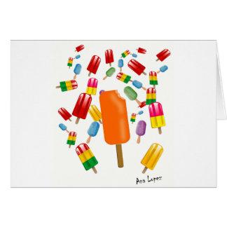Big Popsicle Chaos by Ana Lopez Tarjeta De Felicitación