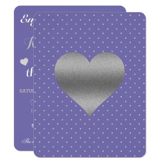 Bígaro y tarjeta del fiesta del corazón y del