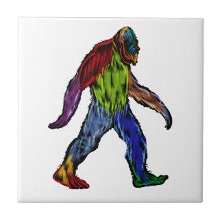 Bigfoot en grande azulejo de cerámica