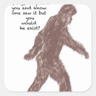 Bigfoot Pegatina Cuadrada