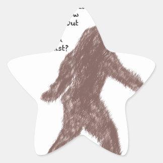 Bigfoot Pegatina En Forma De Estrella
