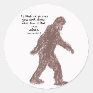 Bigfoot Pegatina Redonda