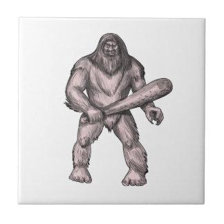 Bigfoot que celebra el tatuaje derecho del club azulejo de cerámica