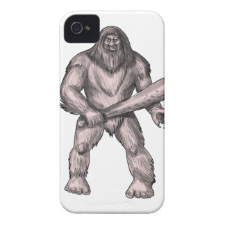 Bigfoot que celebra el tatuaje derecho del club funda para iPhone 4