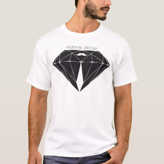 Bigote chocolate Diamonds White Camiseta
