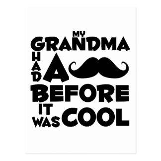 bigote de la abuela tarjeta postal