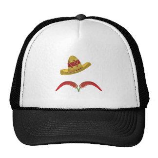 Bigote de la pimienta gorras