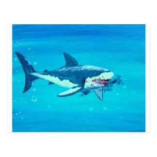 Bigote del almuerzo del tiburón postal