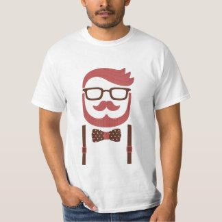 Bigote del caballero del inconformista y camiseta