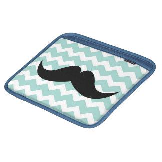 Bigote elegante lindo azul del modelo de zigzag de fundas para iPads