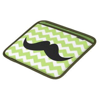Bigote elegante lindo verde del modelo de zigzag d manga de iPad
