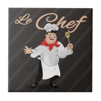 Bigote francés del arte del cocinero de la cocina azulejo cuadrado pequeño