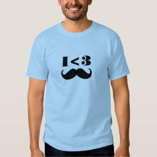 Bigote I <3 Camiseta