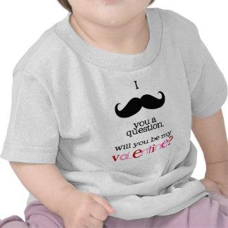 bigote i usted una pregunta camiseta