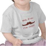 Bigote lindo, soy uno, primer cumpleaños camiseta