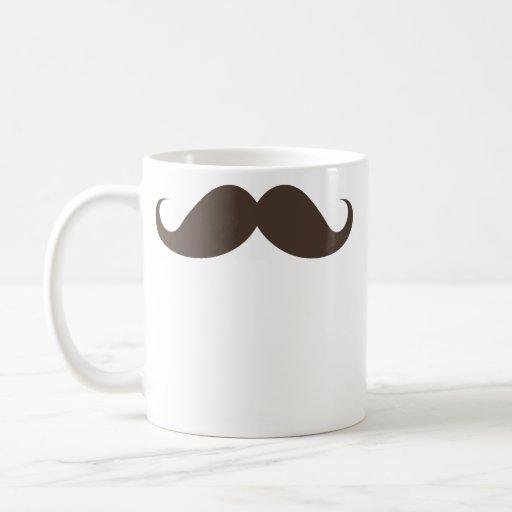 Bigote marrón divertido del bigote del manillar de tazas de café