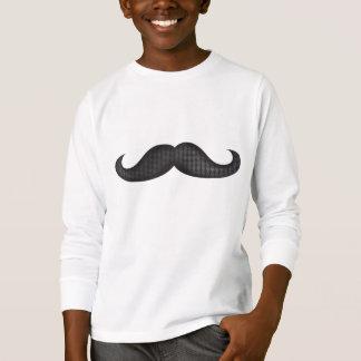 Bigote - negro camiseta