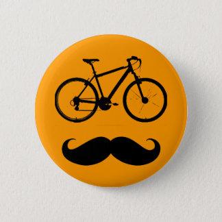 bigote negro de la bici chapa redonda de 5 cm