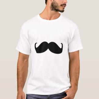 Bigote negro divertido camiseta